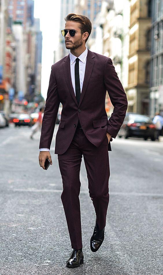 cravate-mince-tailleur-costume-grenat-chemise-blanc-style-mode-homme-gastonman