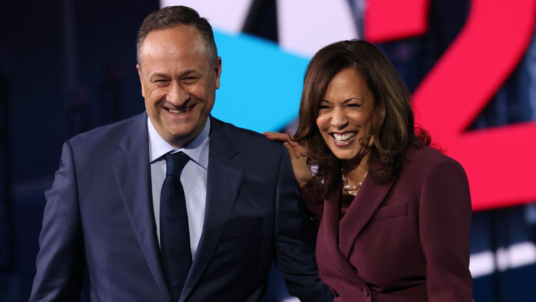 Kamala Harris et son mari, Douglas Emhoff, lors de la convention démocrate tenue à Wilmington, Delaware, en août 2020.